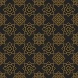Texture sans couture avec l'ornement géométrique de vintage Photo stock