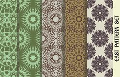 Texture sans couture avec l'ornement géométrique Ensemble de vecteur de configurations Éléments arabes de conception Photographie stock