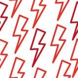 Texture sans couture avec la foudre Rouge Image stock