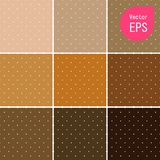 Texture sans couture avec le petit point de Brown Copie graphique tirée par la main Polka Dot Pattern Background Vector Illustrat illustration libre de droits