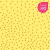 Texture sans couture avec le petit point jaune Copie graphique tirée par la main Polka jaune Dot Pattern Background Vector Illust Illustration Libre de Droits