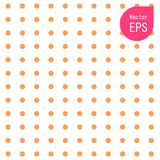 Texture sans couture avec le petit point orange Copie graphique tirée par la main Polka orange Dot Pattern Background Vector Illu Illustration de Vecteur
