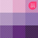 Texture sans couture avec le petit point pourpre Illustration de vecteur de Violet Polka Dot Pattern Background illustration stock
