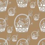 Texture sans couture avec le symbole 28 de Pâques Image stock