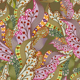 Texture sans couture avec les baies fleuries Photos stock