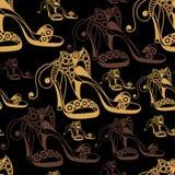 Texture sans couture avec les chaussures décoratives 14 Image stock