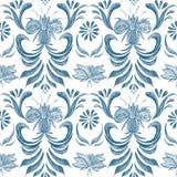 Texture sans couture avec les coeurs bleus d'aquarelle illustration de vecteur