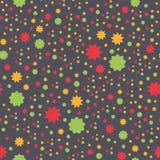Texture sans couture avec les fleurs abstraites en couleurs Image libre de droits