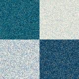 Texture sans couture avec les points aléatoirement espacés Peut être employé comme emballage Points bleus réglés Images libres de droits