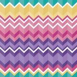 Texture sans couture aztèque folklorique tribale, modèle avec le zigzag illustration stock