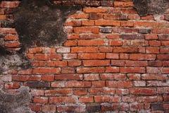 Texture sans couture d'un vieux mur de briques rouge Modèle grunge d'architecture Image libre de droits