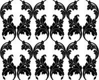 Texture sans couture dans le style de Damas Illustration Stock