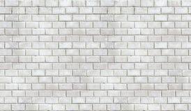 Texture sans couture de brique blanche de haute résolution Photos libres de droits