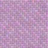 Texture sans couture de brique décorative rose Photo stock