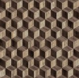 Texture sans couture de cube en parquet 3d Images libres de droits