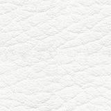 Texture sans couture de cuir blanc Photos libres de droits