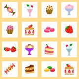 Texture sans couture de dessert Image libre de droits