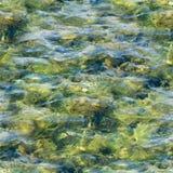 Texture sans couture de l'eau dans la piscine carrelée Fond, nature Image libre de droits