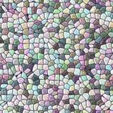 Texture sans couture de modèle de mosaïque pierreuse irrégulière de marbre polychrome en pastel illustration stock