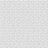 Texture sans couture de modèle de mur de briques vide blanc illustration stock