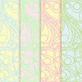 Texture sans couture de modèle fleuri réglé. Illustration ENV 8 de vecteur Photographie stock