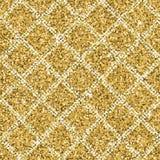 Texture sans couture de scintillement d'or jaune avec les lignes diagonales argentées Fond de miroitement illustration stock