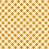 Texture sans couture de Tan Checkered Fabric Pattern Background de vintage Illustration de Vecteur