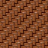 Texture sans couture de rotin en bois de Brown. illustration libre de droits