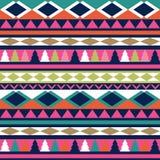 Texture sans couture de tribal de vecteur Modèle tribal de vecteur coloré Image stock