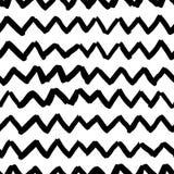 Texture sans couture de zigzag de croquis de sorcière de modèle de vecteur Images libres de droits