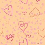Texture sans couture des coeurs roses Photographie stock