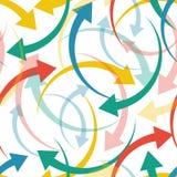 Texture sans couture des flèches multicolores illustration stock