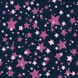 Texture sans couture des fleur-étoiles roses et lilas illustration libre de droits