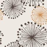 Texture sans couture des fleurs de pissenlit Photographie stock