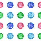 Texture sans couture des gemmes colorées d'isolement sur le fond Photographie stock libre de droits
