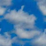 Texture sans couture des nuages blancs dans le ciel Image libre de droits