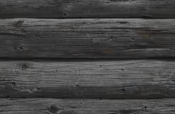 Texture sans couture des rondins en bois gris Photos libres de droits