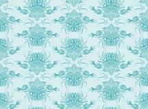 Texture sans couture du poisson de mer et de l'usine ornementaux  Photos libres de droits