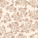 Texture sans couture florale décorative de vintage Photos stock