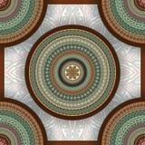 Texture sans couture florale fleurie, modèle sans fin avec des éléments de mandala de vintage illustration libre de droits