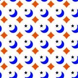 Texture sans couture géométrique d'étoiles de lunes illustration libre de droits