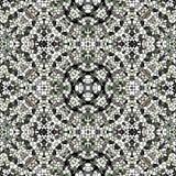 Texture sans couture noire et blanche de kaléidoscope illustration stock