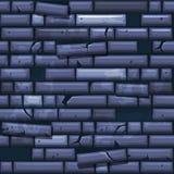 Texture sans couture plaçant le vieux mur en pierre bleu illustration de vecteur