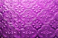 Texture sans couture pourpre colorée Fond en verre Verre floral d'abrégé sur modèle de mur de la décoration 3D de mur intérieur Image stock
