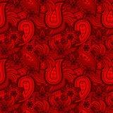 Texture sans couture rouge de Paisley Photos stock