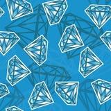 Texture sans joint avec des diamants Photo libre de droits