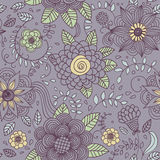 Texture sans joint avec des fleurs Photos stock