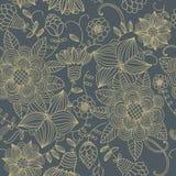 Texture sans joint avec des fleurs Photo libre de droits