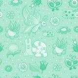Texture sans joint avec des fleurs Photographie stock libre de droits