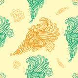 Texture sans joint avec des fleurs Modèle de vague sans fin Images libres de droits